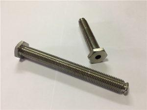 No.64 - قفل التيتانيوم الجوف مع من خلال ثقب سبائك التيتانيوم 6Al4V صحن رئيس الن مفتاح