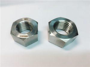 No.76 دوبلكس 2205 F53 1.4410 S32750 السحابات الفولاذ المقاوم للصدأ الجوز عرافة الثقيلة