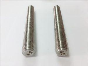 No.77 دوبلكس 2205 S32205 السحابات الفولاذ المقاوم للصدأ DIN975 DIN976 قضبان مترابطة F51