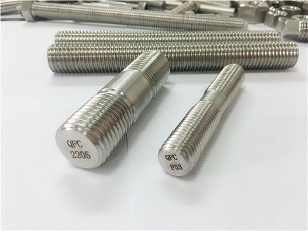 دوبلكس 2205 s32205 2507 s32750 1.4410 جودة عالية الأجهزة السحابة خشبية الخيوط قضيب مرساة