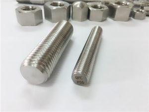 No.81-F55 Zeron100 السحابات الفولاذ المقاوم للصدأ كامل قضيب الخيوط S32760
